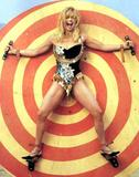 Goldie Hawn Spread Eagle on a Bull's-Eye - 1 Scan