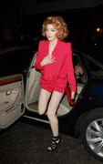 Nicola Roberts Shows Off Her Legs