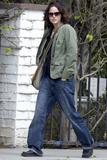 Jorja Fox candids strolling through Brentwood - May 21st